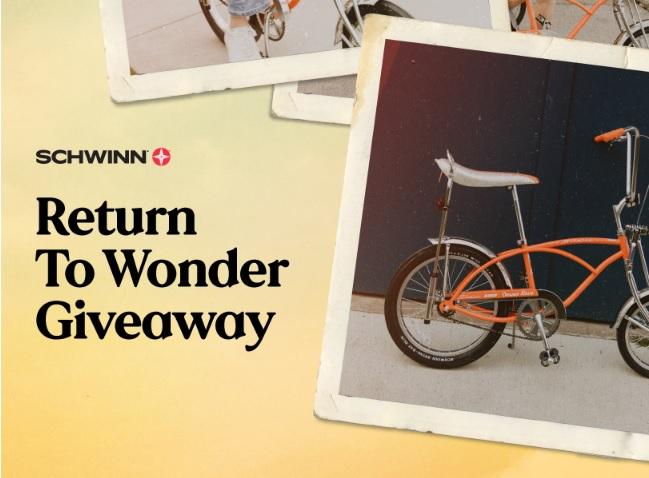 Schwinn Return To Wonder Giveaway