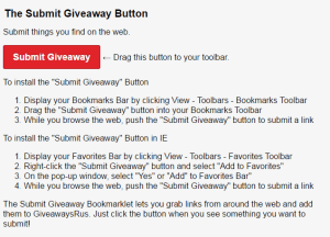 Submit Giveaway