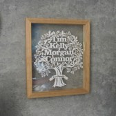 Twenty Fingers Family Tree Papercut Review & Giveaway E:25/06