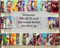 Top 50 films every child should see – #Giveaway to win all 50 films E:09/07