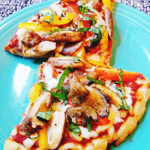 Homemade gluten-free pizza