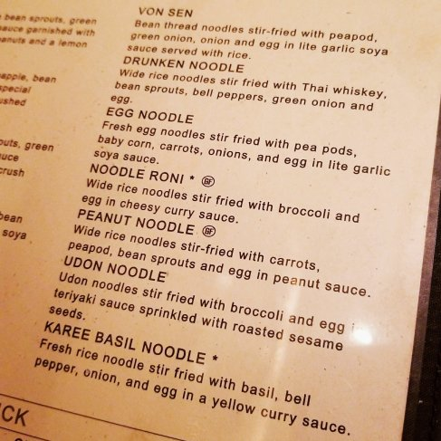 Sy Thai menu