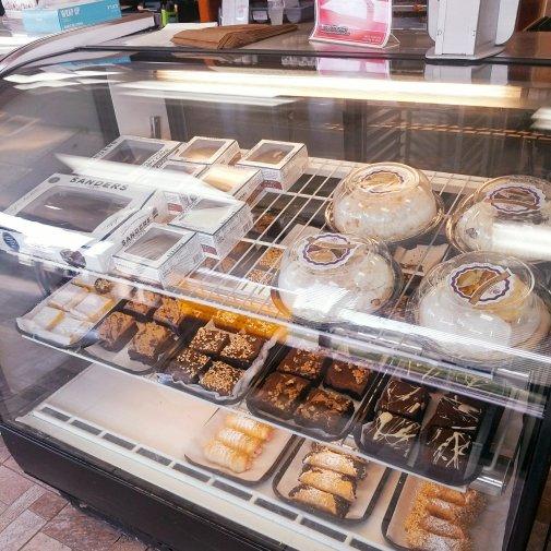 Dessert cases at Apple Annie's