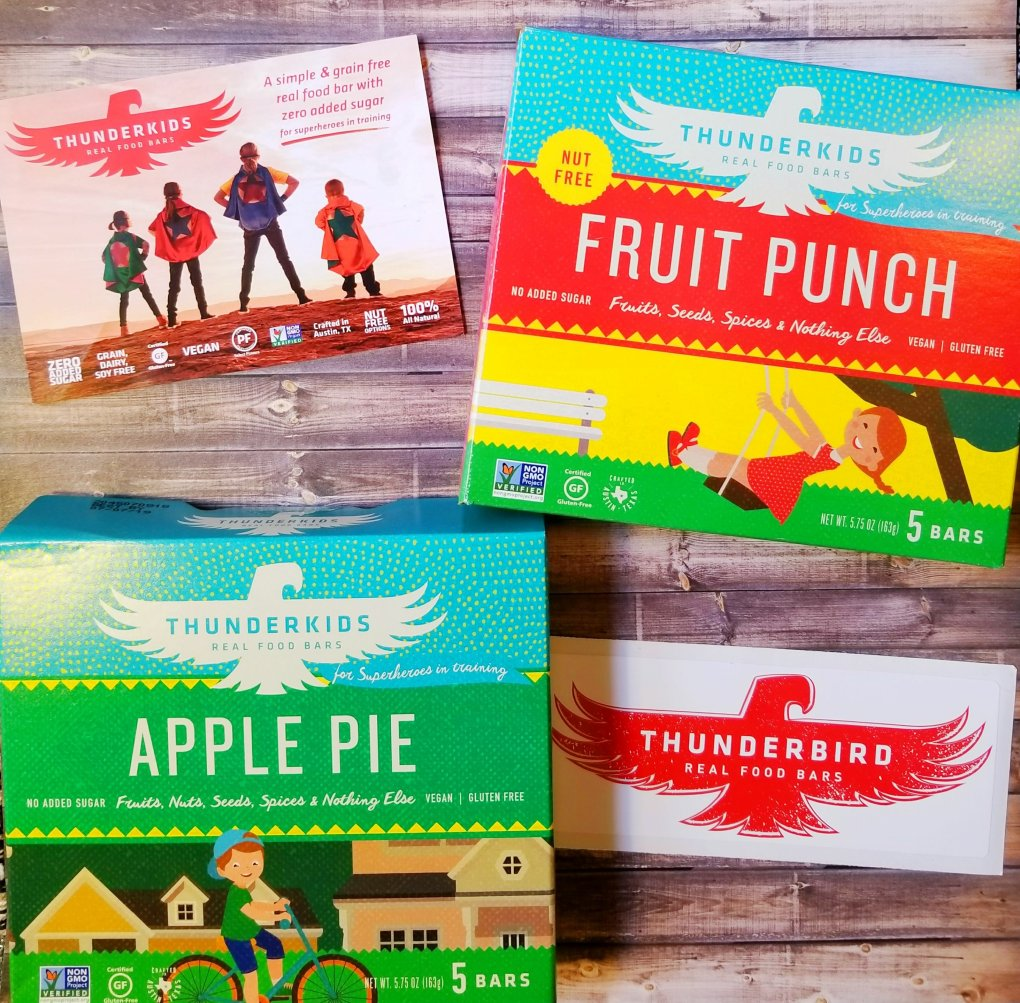 Two of the Thunderbird Bars flavors available for children