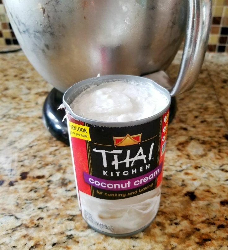 Thai Kitchen Coconut Cream for vegan and paleo whipped cream