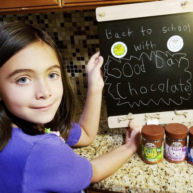 Chloe With Good Day Chocolate