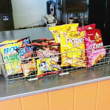 Asian snacks available at Kawaii Bubble Tea