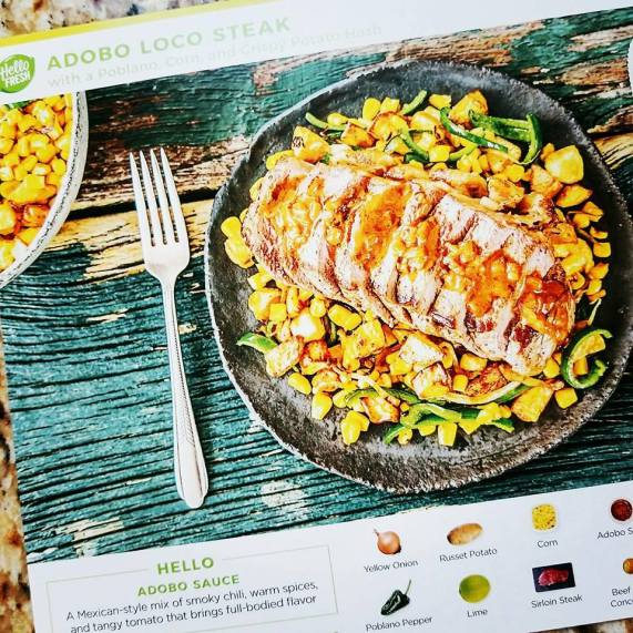 HelloFresh recipe card
