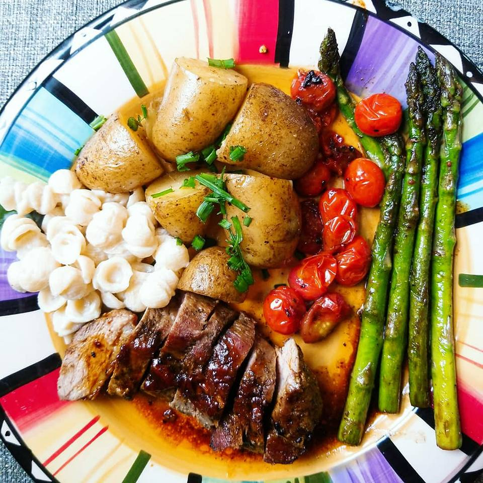 Pan Seared Duck Breasts With Duck Fried Potatoes, Asparagus, and Grape Tomatoes - HelloFresh REVIEW - GIVE IT A WHIRL GIRL