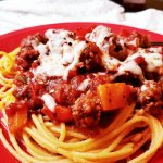 Zesty Spaghetti Sauce Recipe With Ancient Harvest. Tri-Color Pepper, Ground Beef, and Italian Sausage