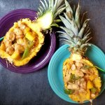 Pineapples Stuffed With Sweet Teriyaki Chicken and Ginger/Orange Quinoa RECIPE – Gluten-Free – One Last Summer Meal