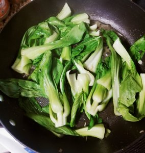 Cooking Marley Spoon's bok choy