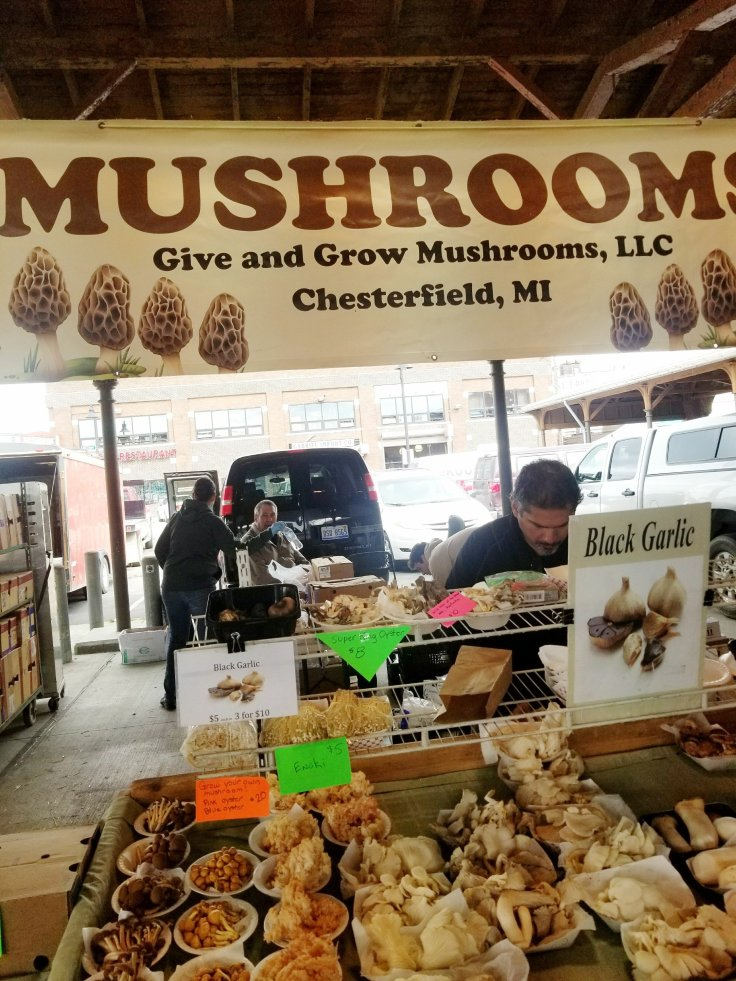 Mushrooms galore at Eastern Market!