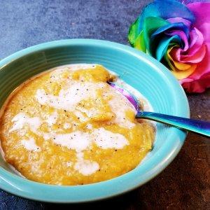 Paleo butternut squash soup with coconut milk