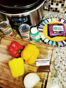 The main ingredients that I used in my Tri-Color Bison Chili