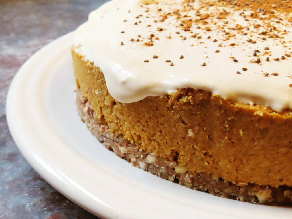 Pumpkin Spice Cheesecake - Paleo & Vegan