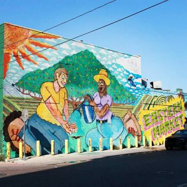 Mural in the Eastern Market area of Detroit, MI