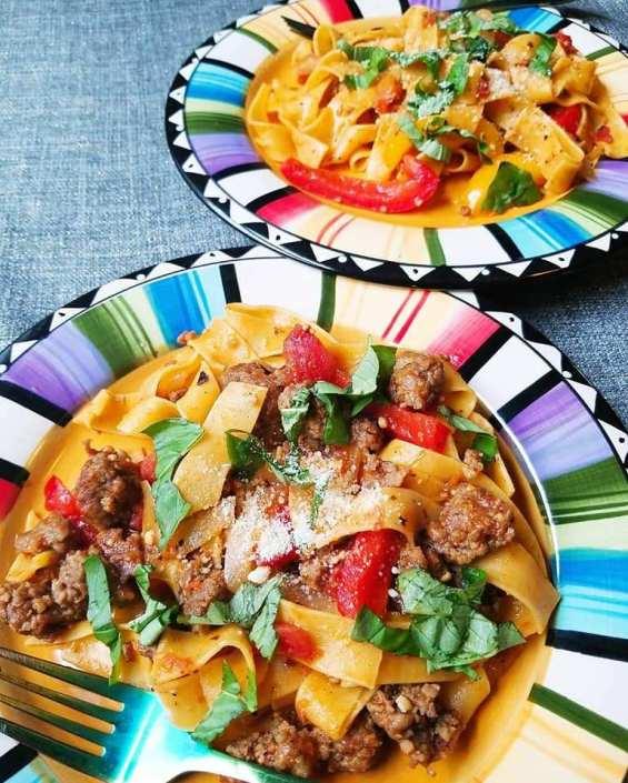 Italian Drunken Noodle is a family favorite!