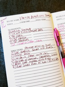 Recipe notes for Vanilla Dumpling Squash (Martha Stewart inspired)