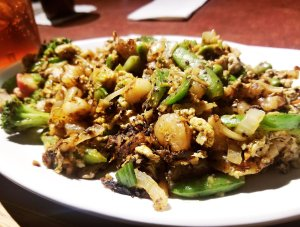 Seafood stir-fry at BD's Mongolian Grill