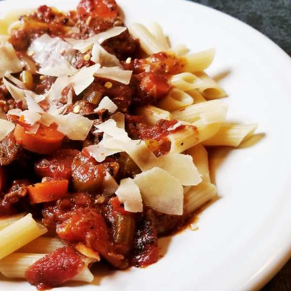 Slow Cooker Gluten-Free Beef Bolognese Pasta Sauce