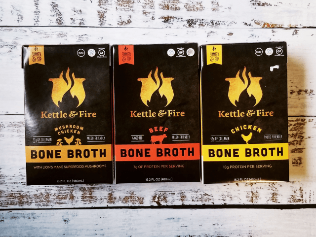The 3 varieties of Kettle & Fire Bone Broth
