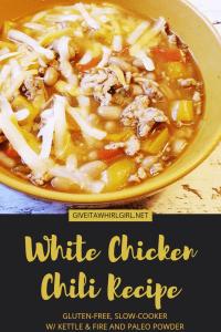White Chicken Chili RECIPE w/ Kettle & Fire and Paleo Powder, Gluten-Free, Slow-Cooker