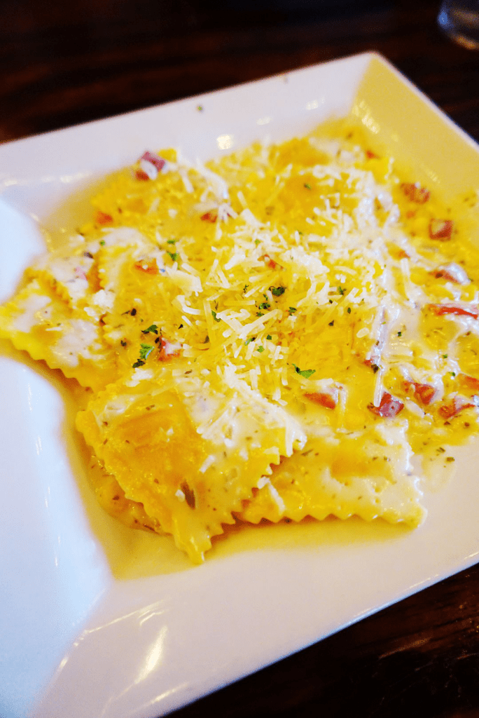 Check out this lobster ravioli at Terry's Terrace