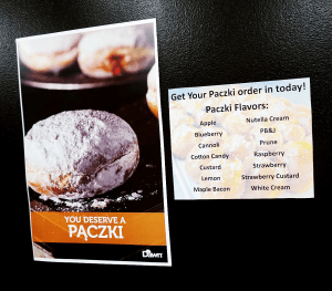 Paczki flavors available at Daddy's Doughnuts