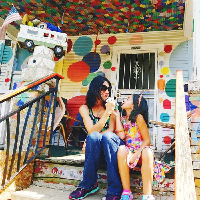 Me and my daughter, Chloe Pearl, at the Heidelberg Project