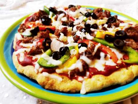 Gluten Free Supreme Pizza Made From Scratch by Give It A Whirl Girl