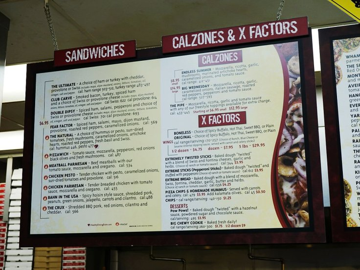 Menu at Extreme Pizza (Sandwiches, Calzones, Etc)