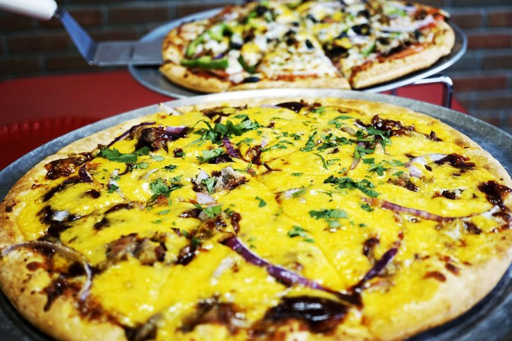 The Boar'der has cheddar cheese and barbeque sauce on it! Would you give this pizza a try?