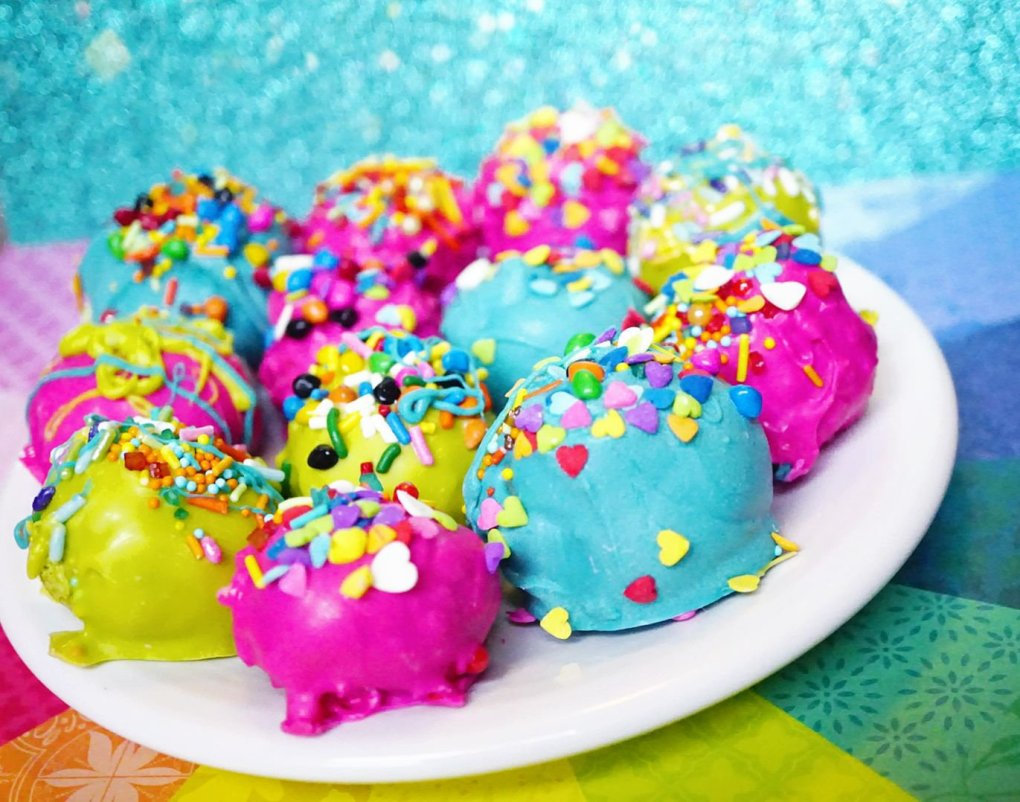 Stunning array of our Super Duper Moist Cake Balls