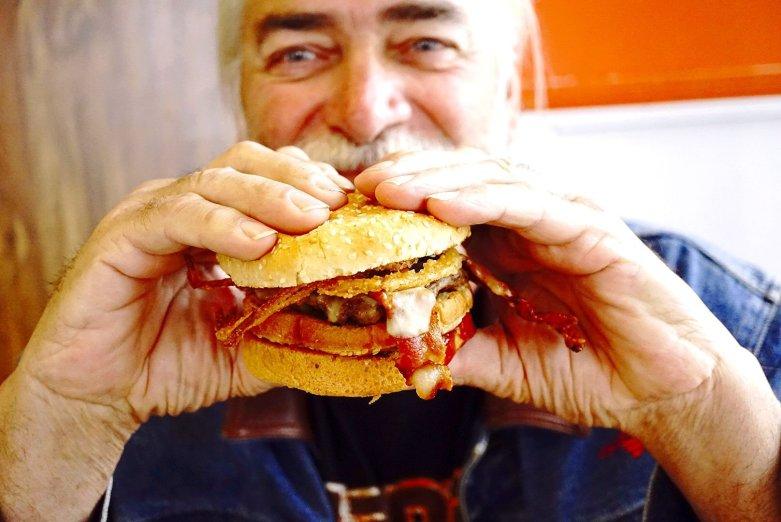 The Phat Gratiot Burger as Seeburger's Cheeseburgers is gigantic