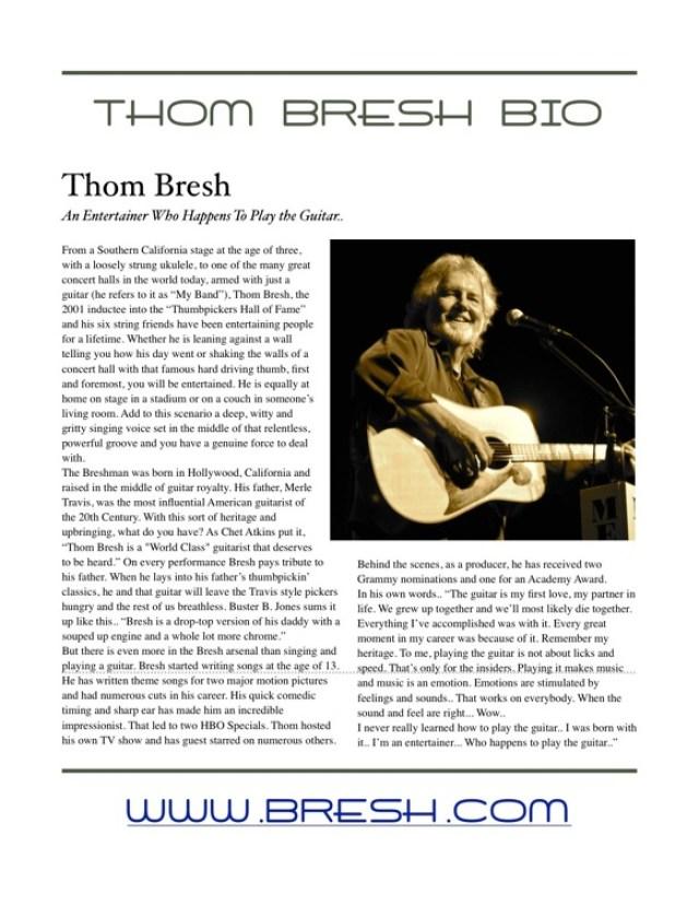 Thom Bresh Bio