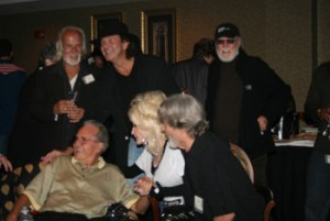 Chris Gantry, Tony Joe White, Billy Swan, Bob Beckham, Dolly Parton, Kris Kristofferson http://www.kriskristofferson.com/ Combine Writers Reunion, photo credit CJ Flanagan