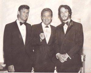 Kristofferson, Eddie Miller, and Gantry at the BMI Awards dinner in New York, 1969