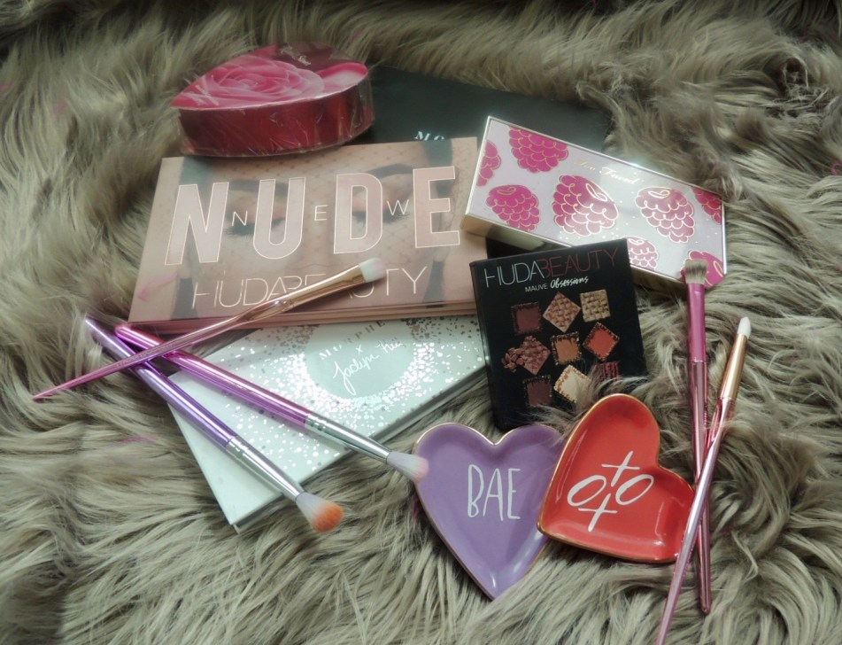Valentines Day eyeshadows