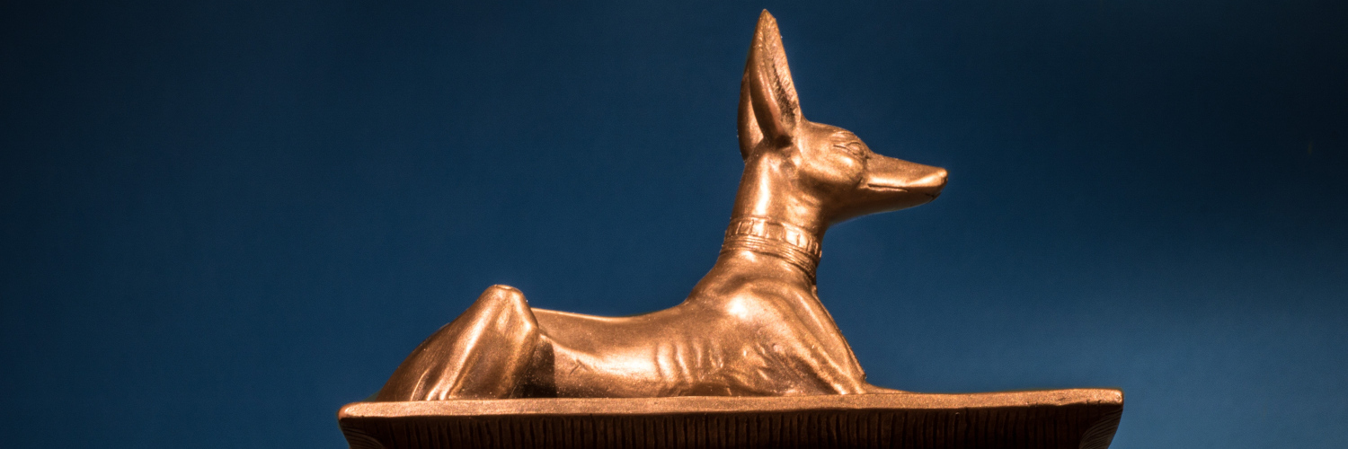Ancient Egyptian Anubis Jackal Dog God of Underworld w