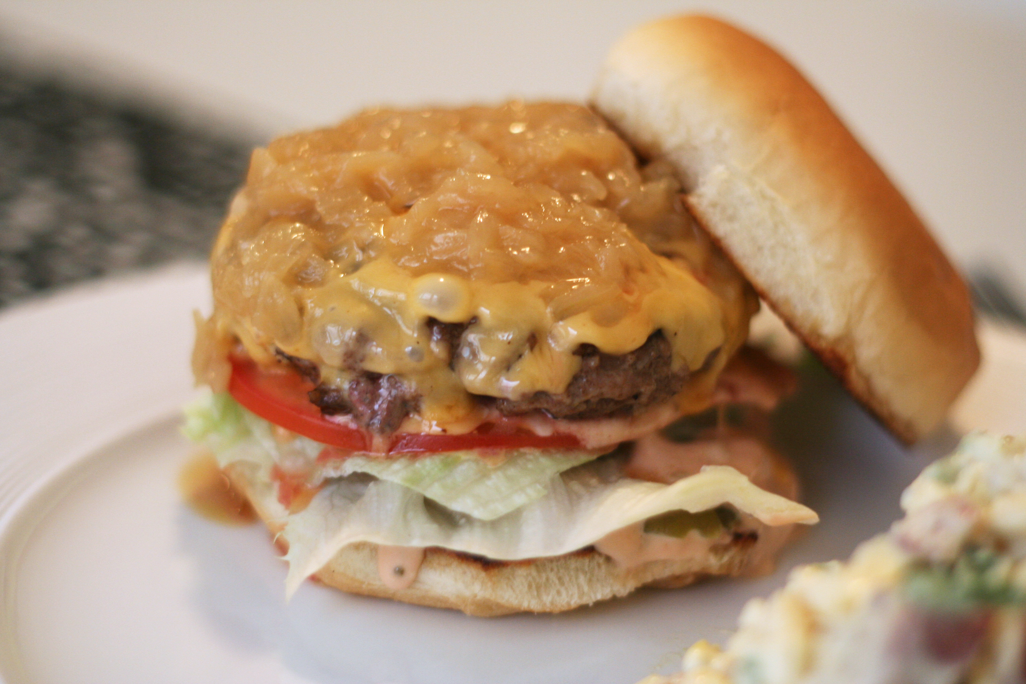 in-n-out animal style cheeseburger