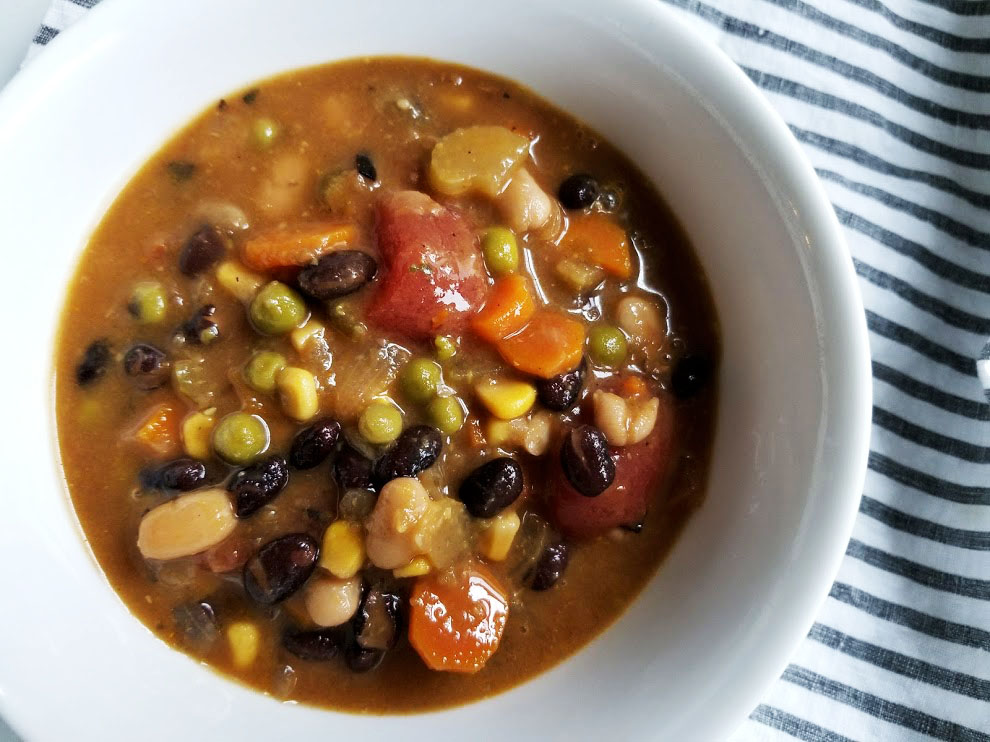 all in vegetable & bean soup