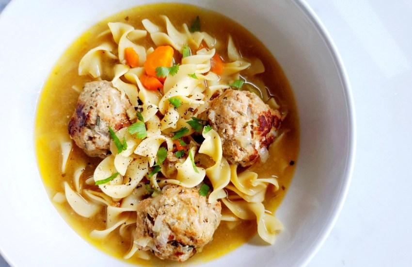 Turkey Meatball Noodle Soup