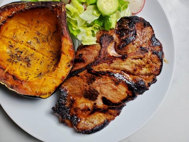 Marinated Pork Steak