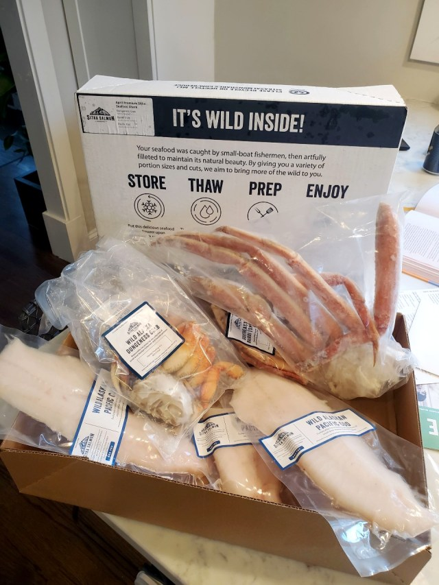 Sitka Seafood Share Box Including the Cod Used for this Bake Cod Recipe