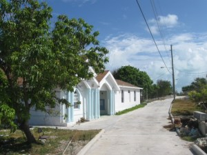 A church on Current built by the women of the community.