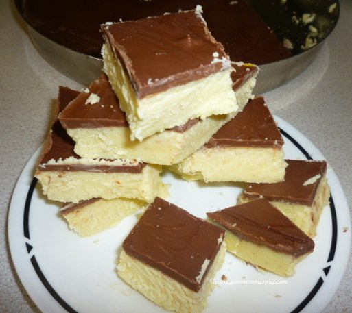 Quick Chocolate Barfi with condensed milk (in MW)
