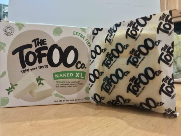 Tofu from the Tofoo co in packaging