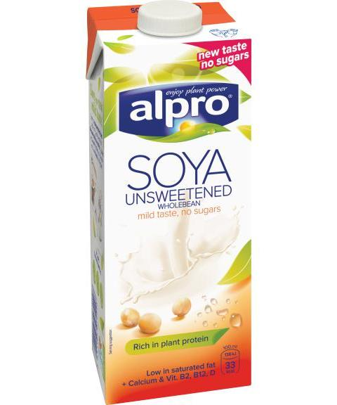 Alpro Soya Unsweetened wholebean drink product photo