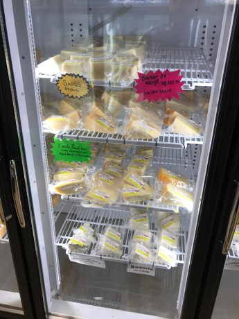 Cheese range from $6.50 to $12/lb.